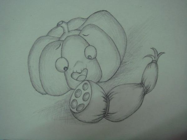 小学生绘画荔枝图片铅笔画